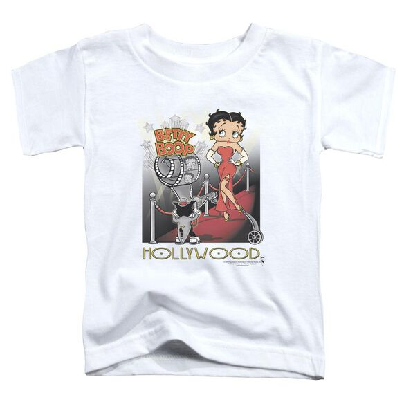 Betty Boop Hollywood Short Sleeve Toddler Tee White Md T-Shirt