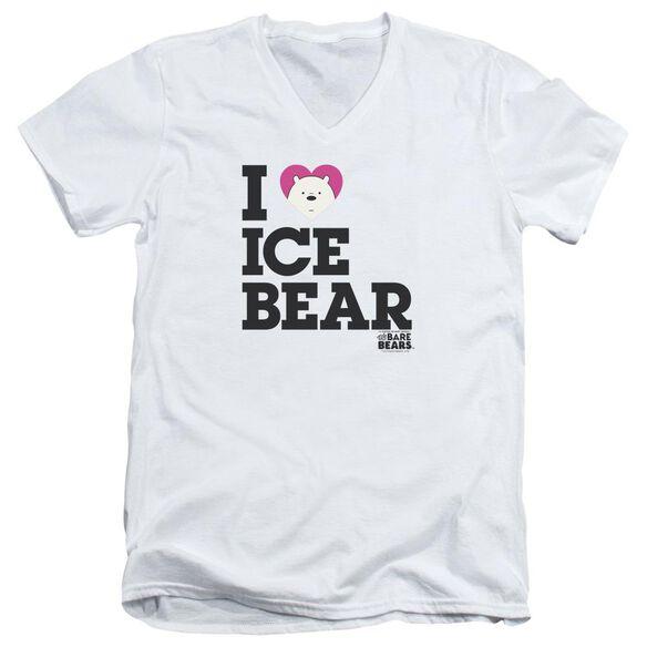 We Bare Bears Heart Ice Bear Short Sleeve Adult V Neck T-Shirt