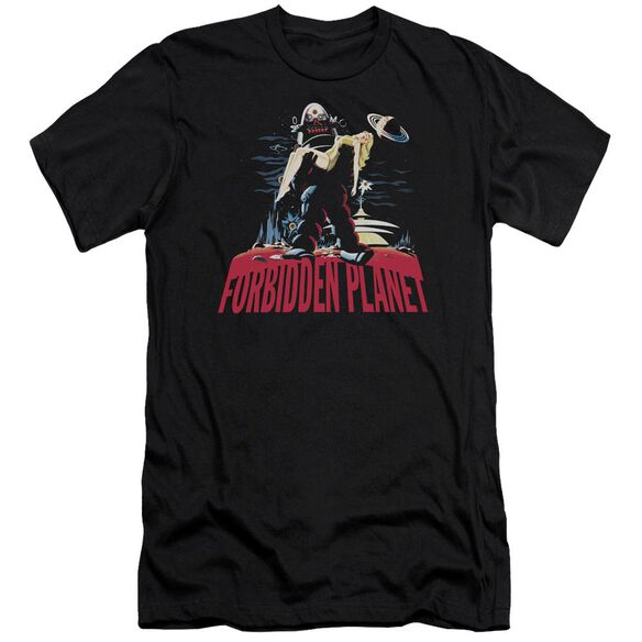 Forbidden Planet Robby And Woman Premuim Canvas Adult Slim Fit