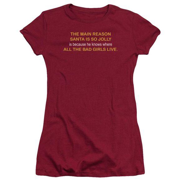 Where The Bad Girls Live Hbo Short Sleeve Junior Sheer T-Shirt
