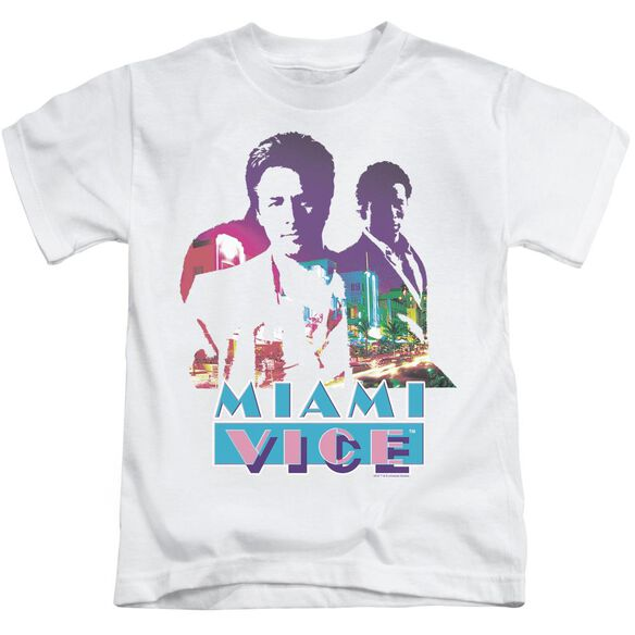 Miami Vice Crockett And Tubbs Short Sleeve Juvenile White Md T-Shirt