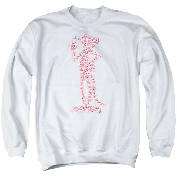 Pink Panther Heads Adult Crewneck Sweatshirt