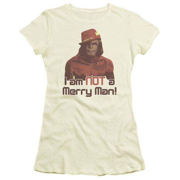 Star Trek Not Merry Short Sleeve Junior Sheer T-Shirt