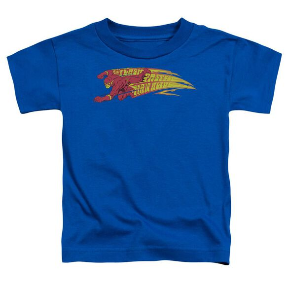 Dc Flash Fastest Man Alive Short Sleeve Toddler Tee Royal Blue T-Shirt