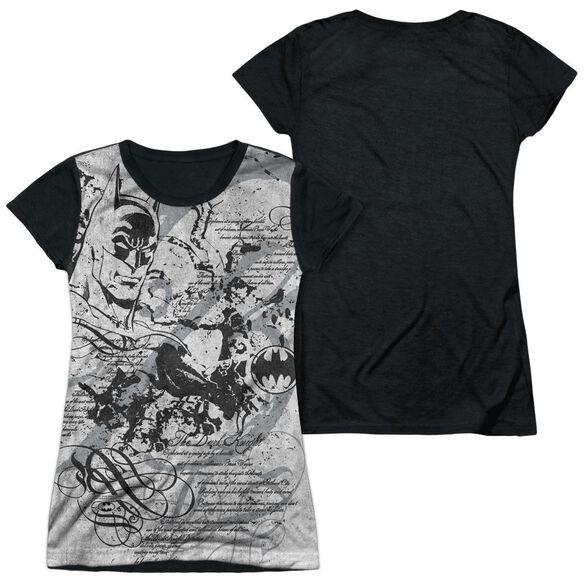 Batman Tale Of The Dark Knigth Short Sleeve Junior Poly Black Back T-Shirt