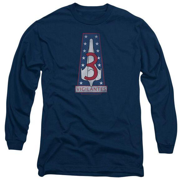 BSG VIGILANTES BADGE - L/S ADULT 18/1 - NAVY T-Shirt