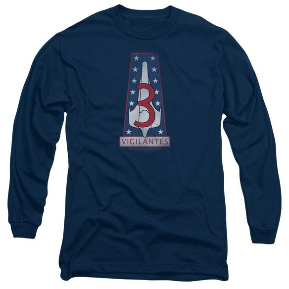 Bsg Vigilantes Badge Long Sleeve Adult T-Shirt