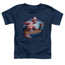 The Flash Fastest Man Short Sleeve Toddler Tee Navy T-Shirt
