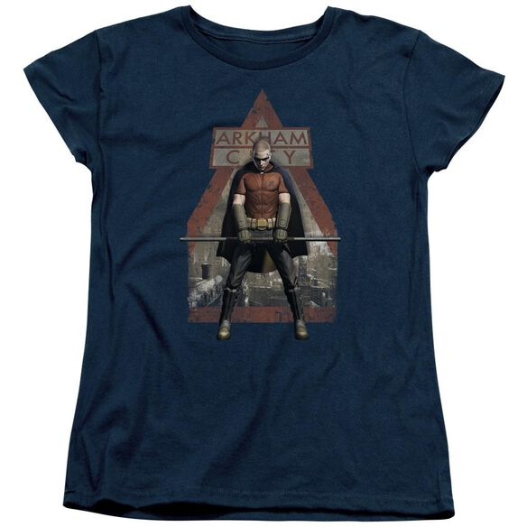 Arkham City Arkham Robin Short Sleeve Womens Tee T-Shirt