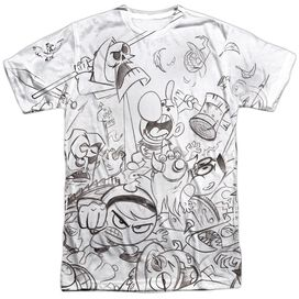 Grim Adventures Of Billy And Mandy Brawl Short Sleeve Adult Poly Crew T-Shirt