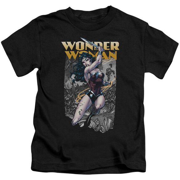 Jla Wonder Slice Short Sleeve Juvenile T-Shirt