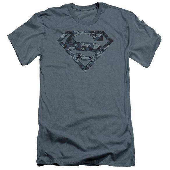 Superman Navy Camo Shield Premuim Canvas Adult Slim Fit