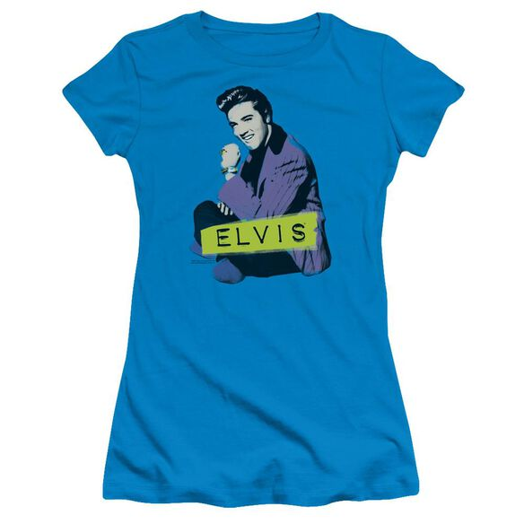 Elvis Sitting Short Sleeve Junior Sheer T-Shirt