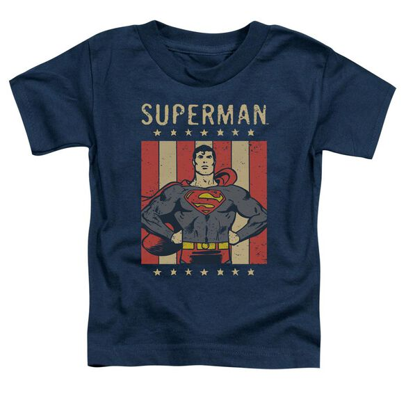 Dc Retro Liberty Short Sleeve Toddler Tee Navy T-Shirt