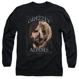 Grizzly Adams Half Bear Long Sleeve Adult T-Shirt