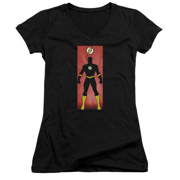 Jla Flash Block Junior V Neck T-Shirt
