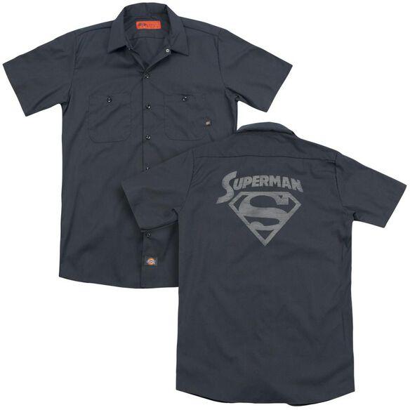 Superman Super Arch (Back Print) Adult Work Shirt