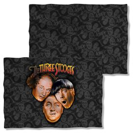Three Stooges Stooges All Over (Front Back Print) Pillow Case White