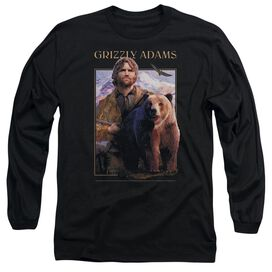 Grizzly Adams Collage Long Sleeve Adult T-Shirt
