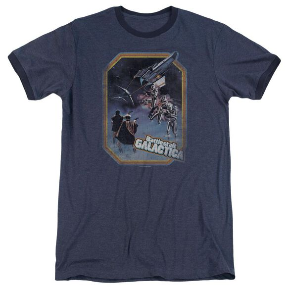 Bsg Poster Iron On Adult Ringer Navy