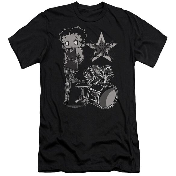 Betty Boop With The Band Premuim Canvas Adult Slim Fit