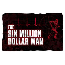 Six Million Dollar Man Logo Fleece Blanket
