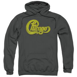 Chicago Distressed Adult Pull Over Hoodie
