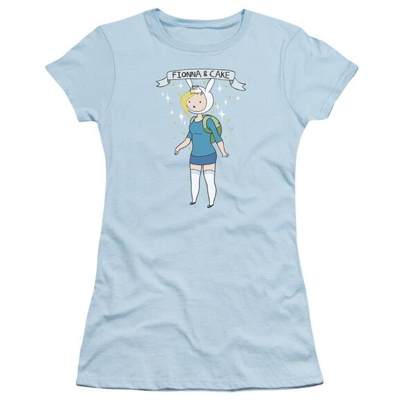 Adventure Time Fionna & Cake Short Sleeve Junior Sheer Light T-Shirt