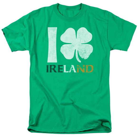 I Love Ireland Short Sleeve Adult Kelly T-Shirt