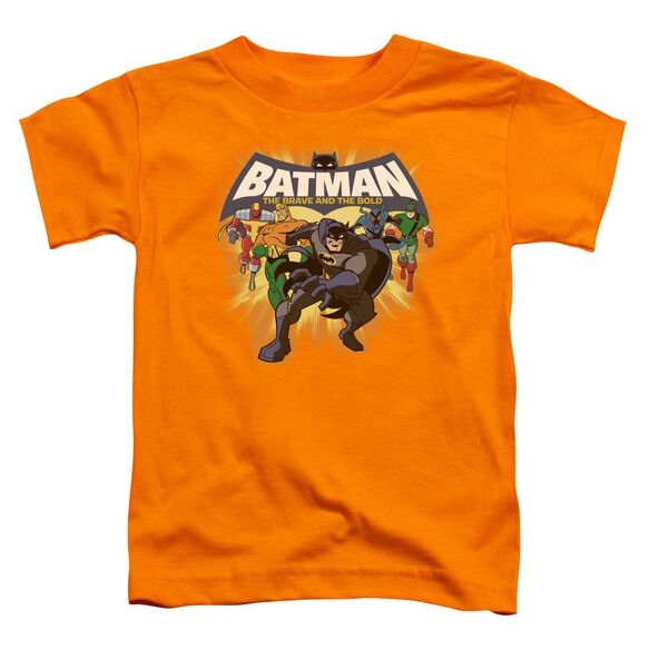 Batman Bb A Bold Force Short Sleeve Toddler Tee Orange Md T-Shirt