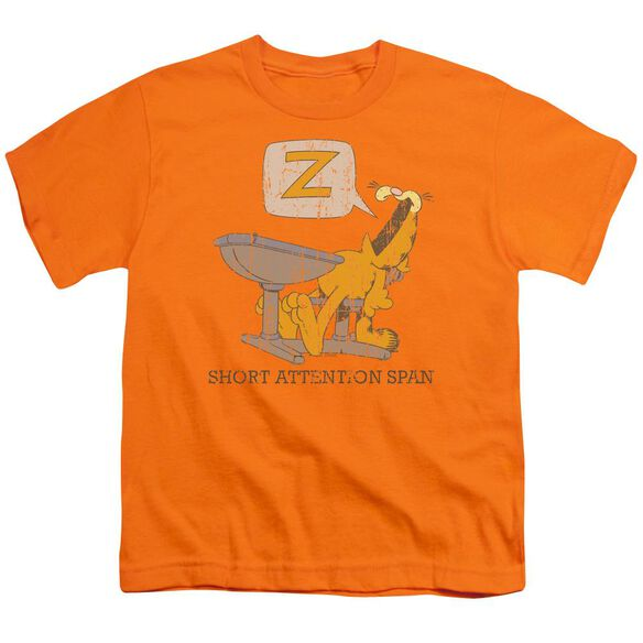 Garfield Attention Span Short Sleeve Youth T-Shirt