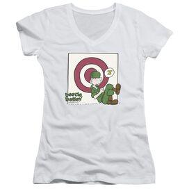 Beetle Bailey Target Nap Junior V Neck T-Shirt