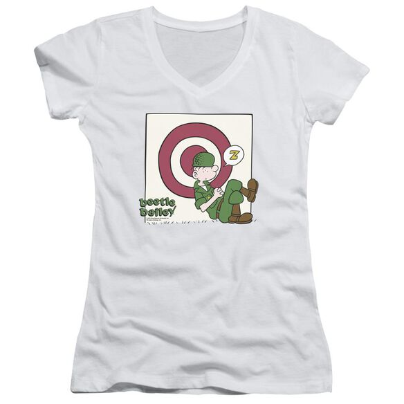 Beetle Bailey Target Nap Junior V Neck T-Shirt