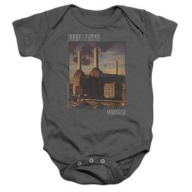 Pink Floyd Faded Animals Infant Snapsuit Charcoal