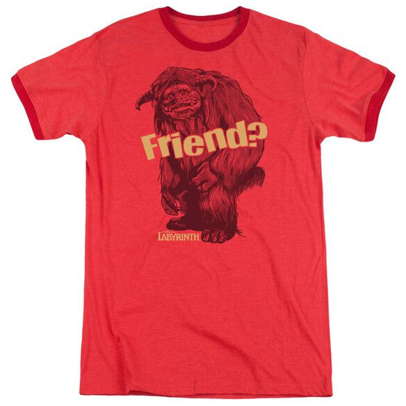 Labyrinth Ludo Friend Adult Heather Ringer Red