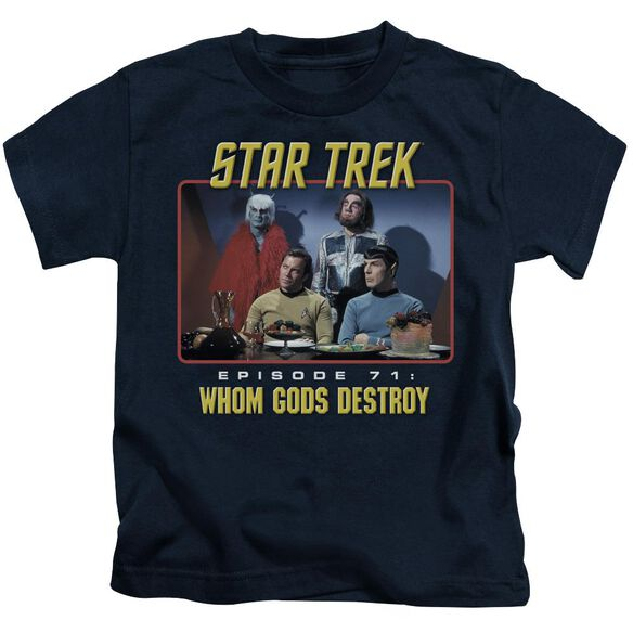 Star Trek Episode 71 Short Sleeve Juvenile Navy T-Shirt