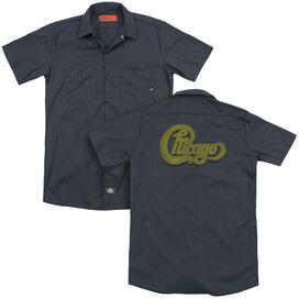 Chicago Distressed(Back Print) Adult Work Shirt