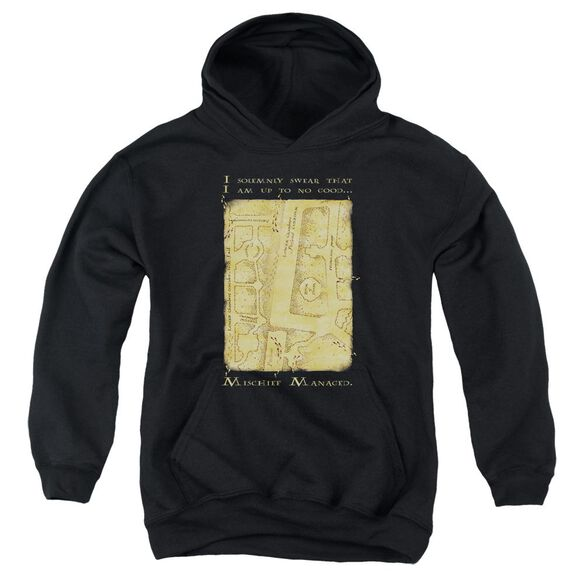 Harry Potter Marauder's Map Interior Words Youth Pull Over Hoodie