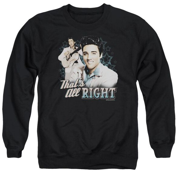 Elvis That's All Right Adult Crewneck Sweatshirt