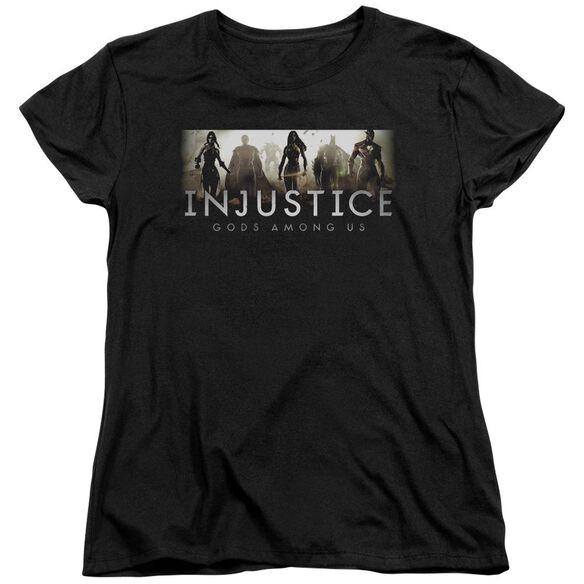 Injustice Gods Among Us Logo Short Sleeve Womens Tee T-Shirt