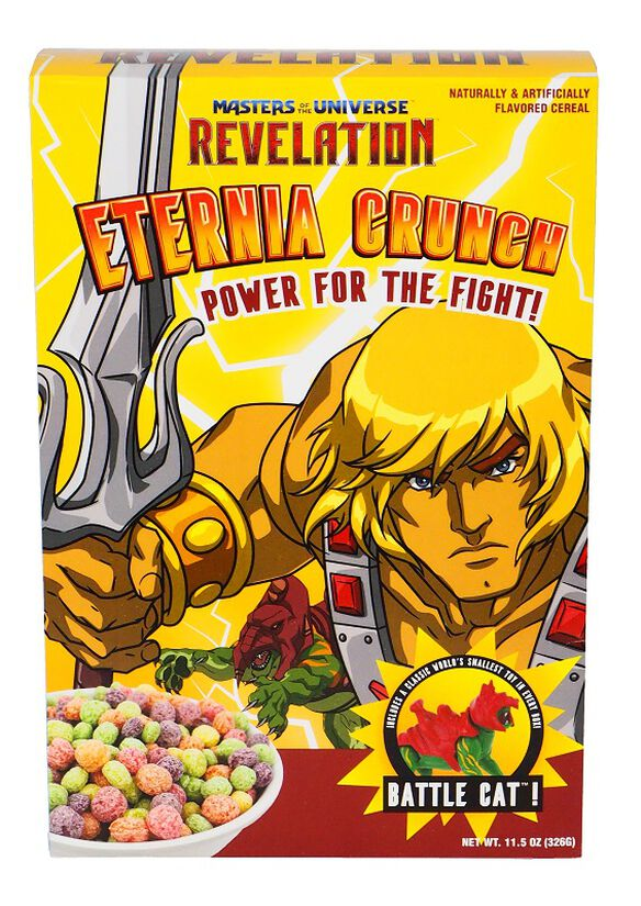 Masters of the Universe Revelation Eternia Crunch Cereal