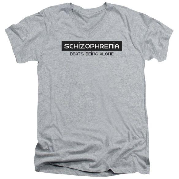 Schizophrenia Short Sleeve Adult V Neck Athletic T-Shirt