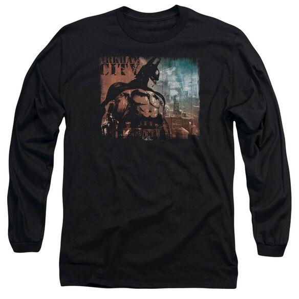 Arkham City City Knockout Long Sleeve Adult T-Shirt