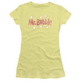 Mr Bubble Vintage Logo Short Sleeve Junior Sheer T-Shirt