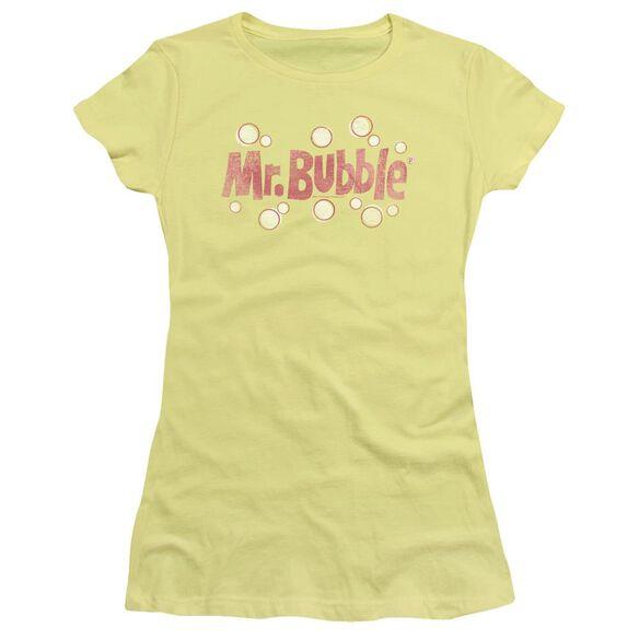 Mr Bubble Vintage Logo Short Sleeve Junior Sheer T-Shirt
