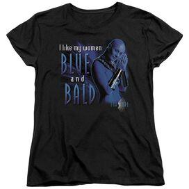 Farscape Blue And Bald Short Sleeve Womens Tee T-Shirt