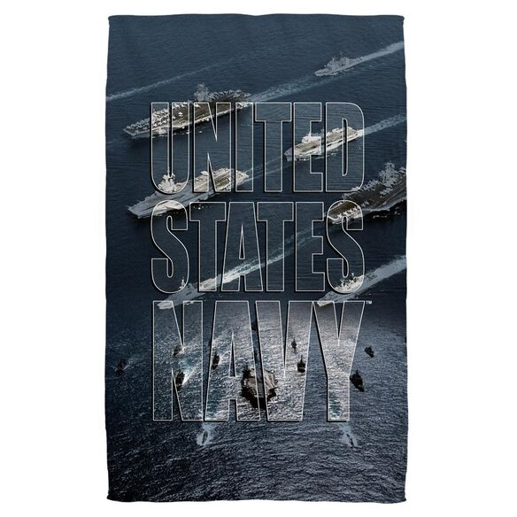Navy Fleet Beach Towel