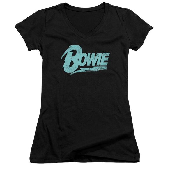 David Bowie Logo Junior V Neck T-Shirt