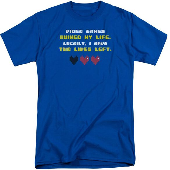 Two Lives Left Short Sleeve Adult Tall Royal T-Shirt
