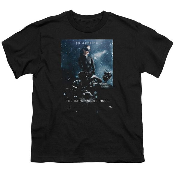 Dark Knight Rises Catwoman Poster Short Sleeve Youth T-Shirt